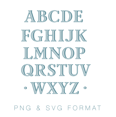 Ryan Ribbed Monogram PNG SVG Monogram Font