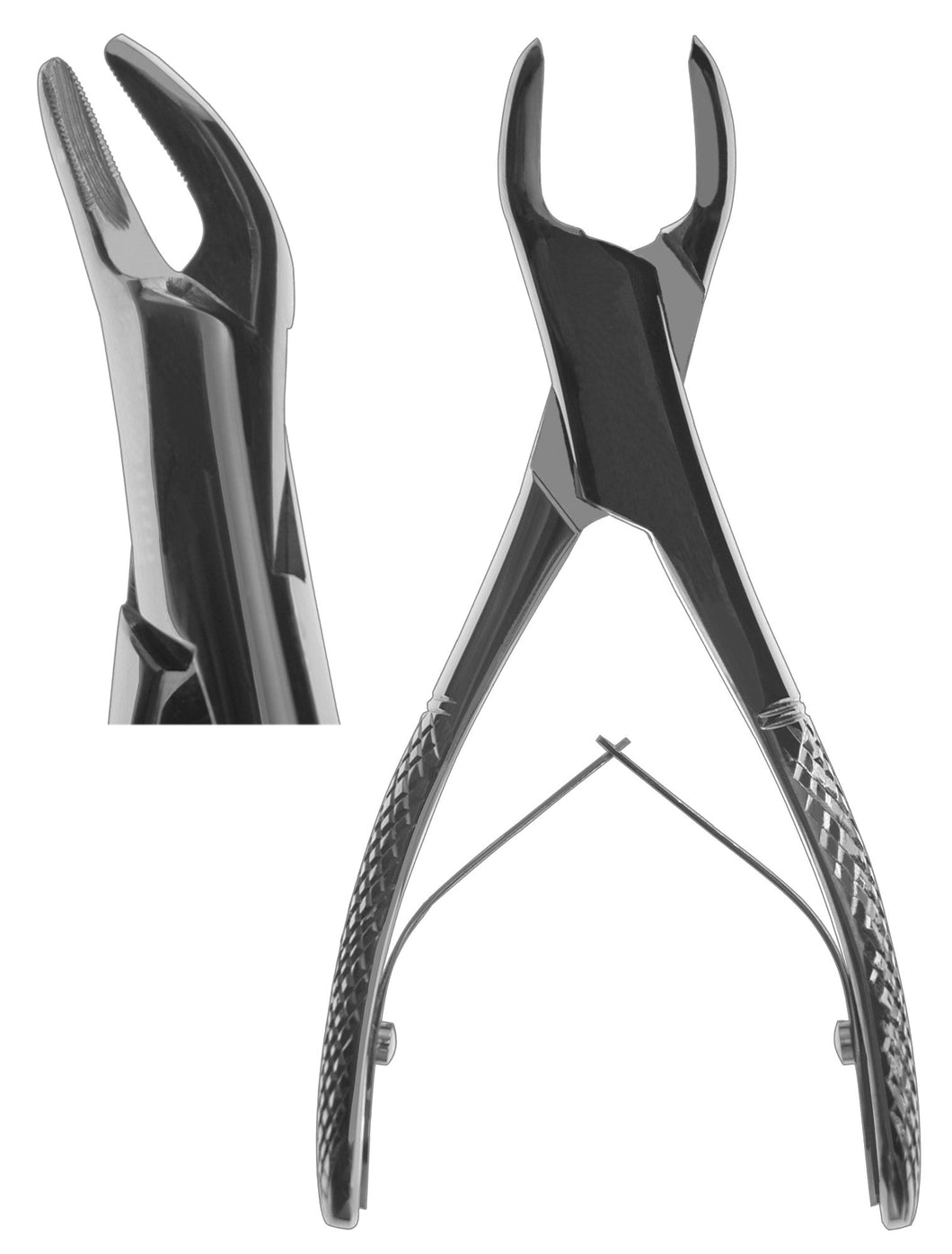 #151SK Forceps (with Spring) [Serrated]  (Z-1203-S)