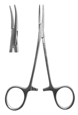 Hemostat, #4 Halsted Curved  12cm/4.75