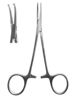 Hemostat, #5 Mosquito 1 X 2 Teeth Curved  12cm/4.75