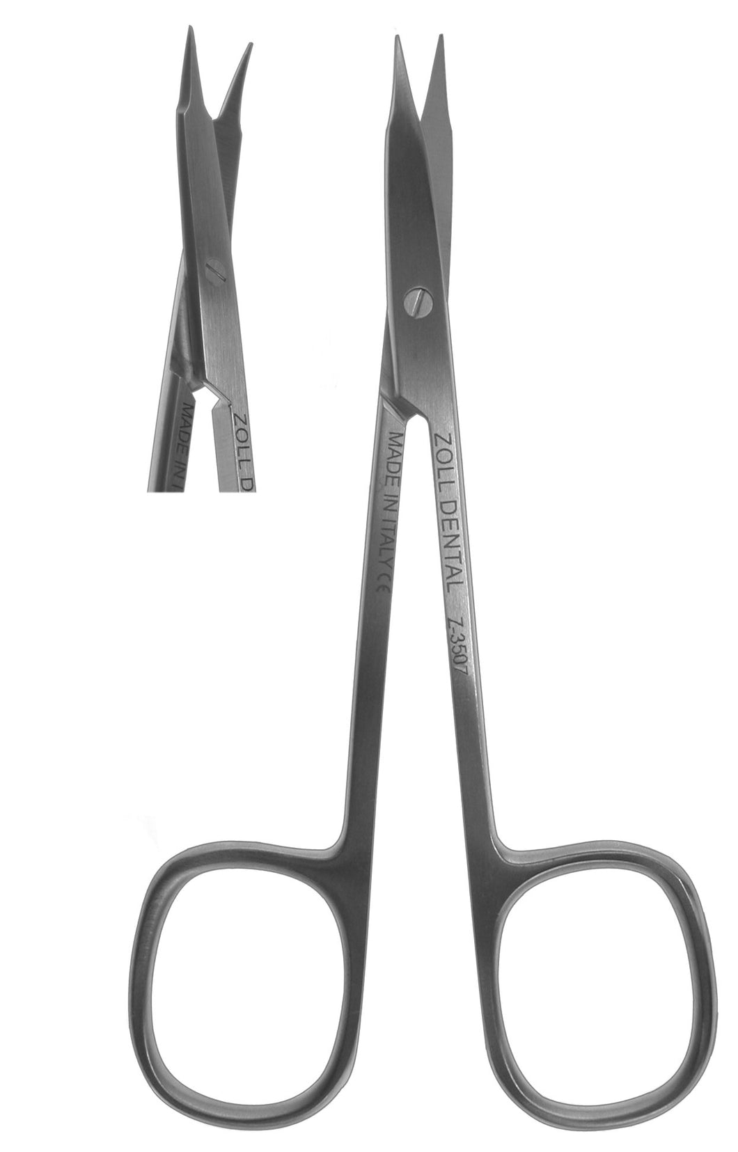 Scissors, Square Ring Curved Thin Tip 11.5cm  (Z-3507)