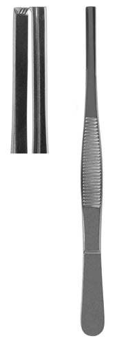 Tissue Forceps, 4 X 5 Teeth Straight 14.5cm  (Z-3998)