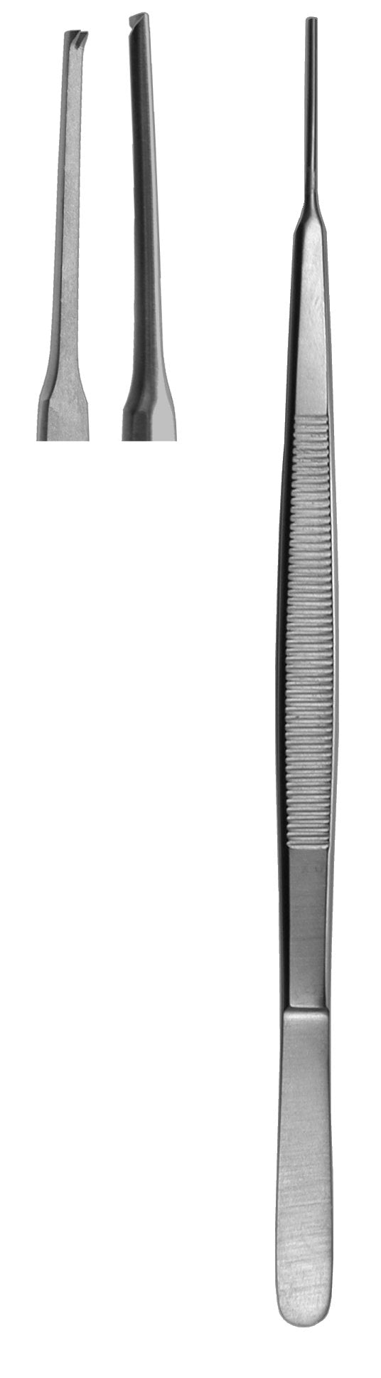 Tissue Forceps, Gerald Straight 1 X 2 Teeth 18cm  (Z-4772)