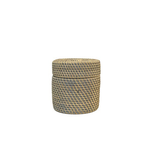 Rattan Box in French Grey