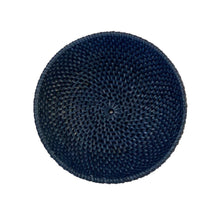 Load image into Gallery viewer, Small Rattan Bowl in Navy Blue