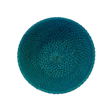 Load image into Gallery viewer, Small Rattan Bowl in Turquoise