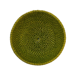 Small Rattan Bowl in Green