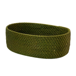 Rattan Kitchen Baskets in Green