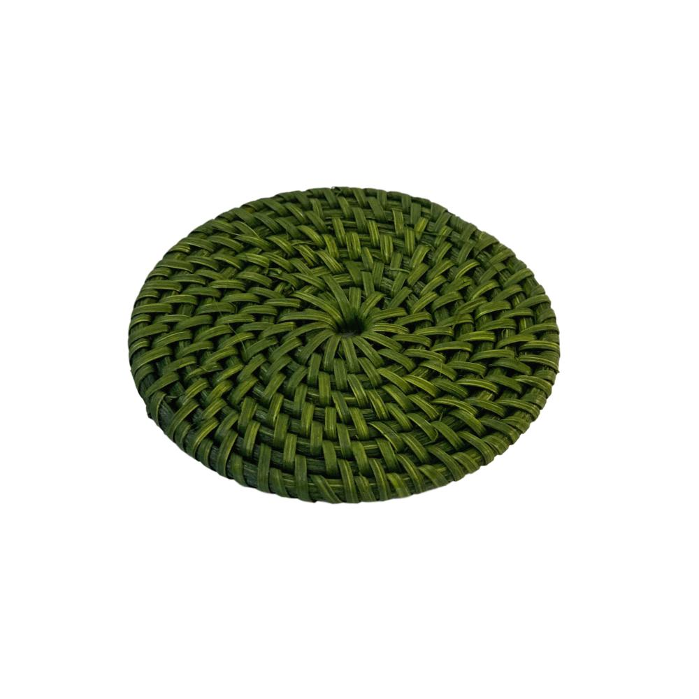 Rattan Coaster in Green