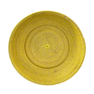 Large Round Decor Plate in Lemon