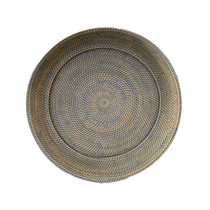 XLarge Round Decor Plate in French Grey