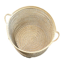Load image into Gallery viewer, Rattan Net Basket in White Wash