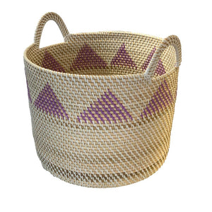 Rattan Storage Basket Large in Purple