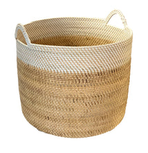 Load image into Gallery viewer, Rattan Medium Basket in White / Natural