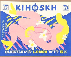 Plakat Riso Print - Keith Shore Kihoskh Elderflower Wit