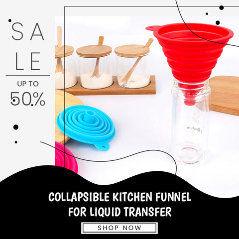 Collapsible Kitchen Funnel for Liquid Transfer