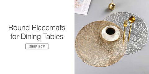 ROUND PLACEMATS FOR DINING TABLES