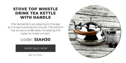 STOVE TOP WHISTLE DRINK TEA KETTLE WITH HANDLE
