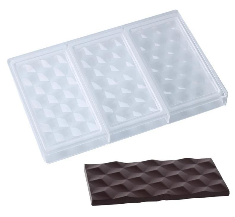 Baking Tools - 3D Cubes Polycarbonate Chocolate Bars Mold