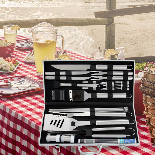 Stainless Steel Barbecue Tools Set For Barbecue Grilling Outdoor Cooking