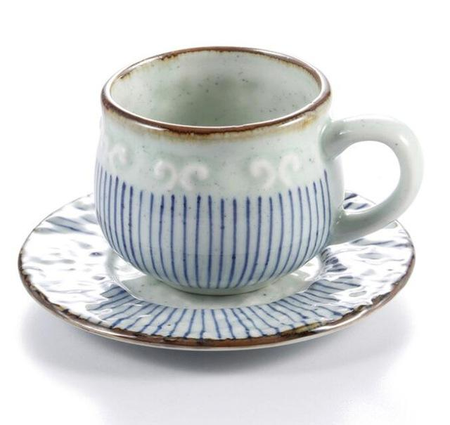 Cups - Hand Painted Lattice Pattern Teacup