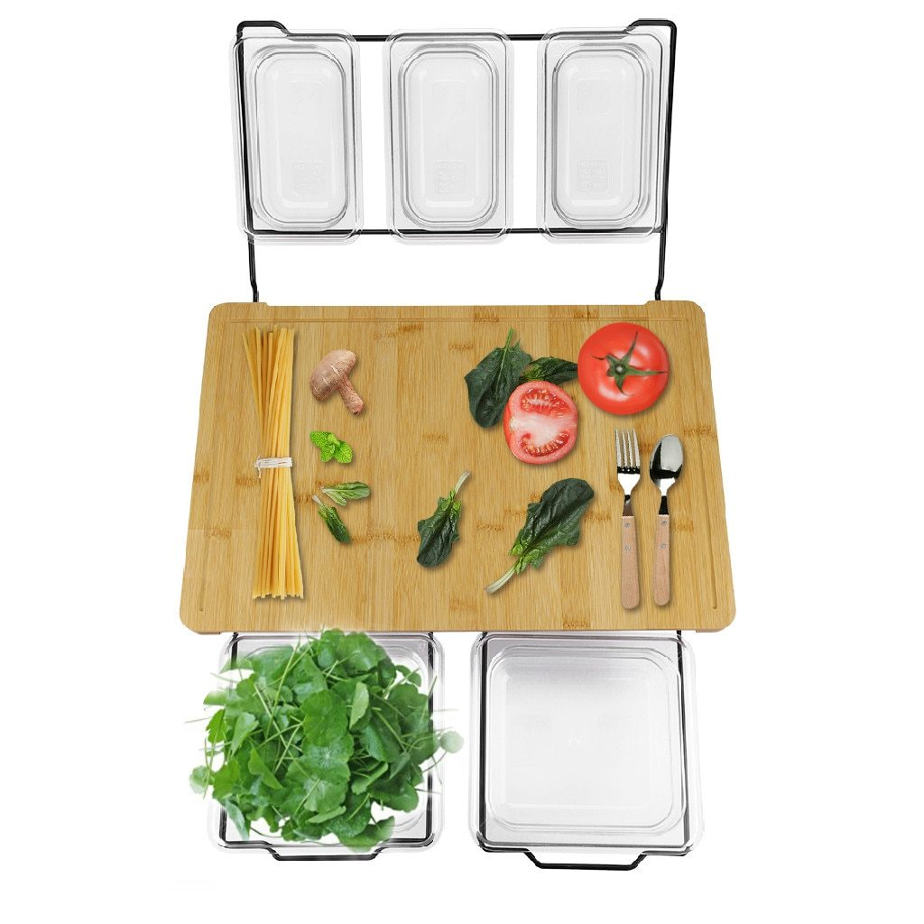 Multi-functional Cutting Board With Trays, Kitchen Cutting Board