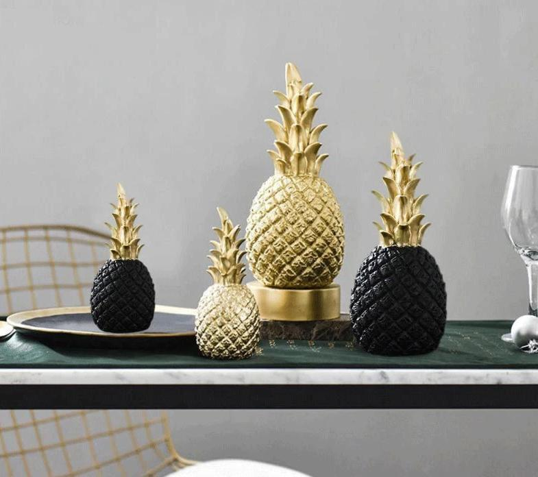 Golden Pineapple Kitchen Ornament With A Modern Nordic Style