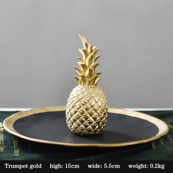 Golden Pineapple Kitchen Ornament With A Modern Nordic Style - Gold