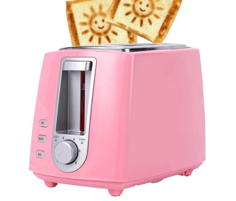 Bread Toaster With A Smiley Bread Maker Toaster Feature Pink