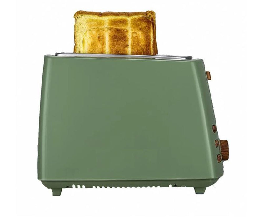 Bread Toaster With A Smiley Bread Maker Toaster Feature Green Side View