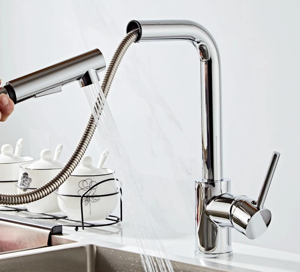 Kitchen Faucet - 360 Degree  Pull Out Water Mixer Tap