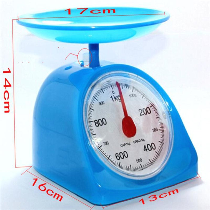 Kitchen Scale - 1KG Retro Round Kitchen Weighing Scale