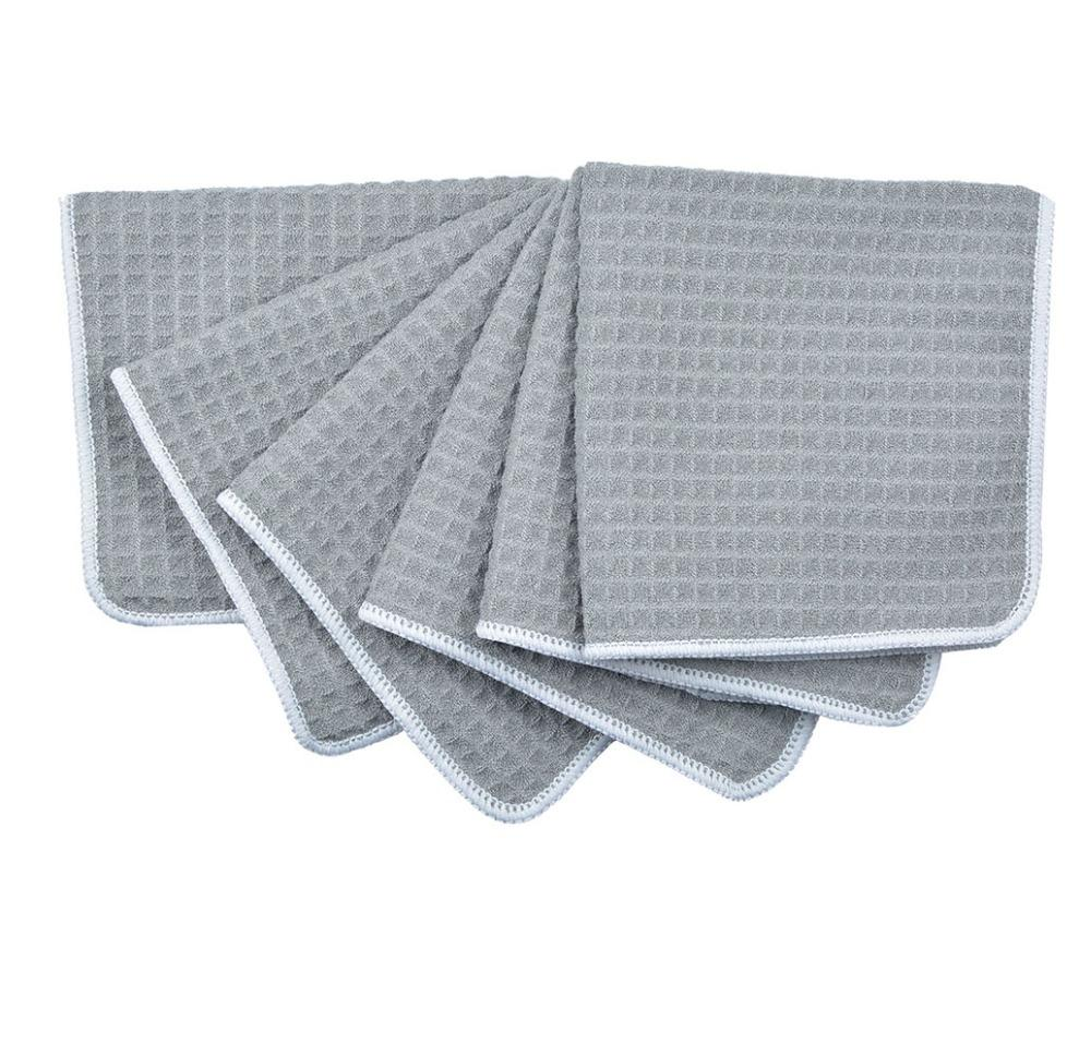 Kitchen Towels - 6pcs Waffle Weave Kitchen Cloth