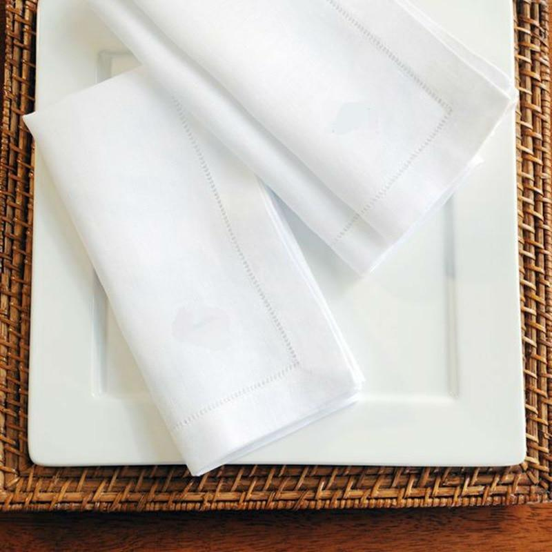 Table Napkins - 12pcs Hemstitched Napkins