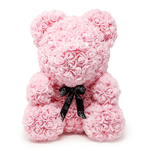 Light Pink Luxury Handmade Rose Teddy Bear -1