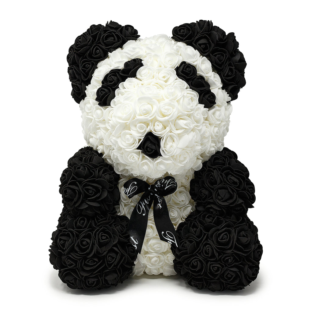 Handmade Luxury Rose Panda Bear -1