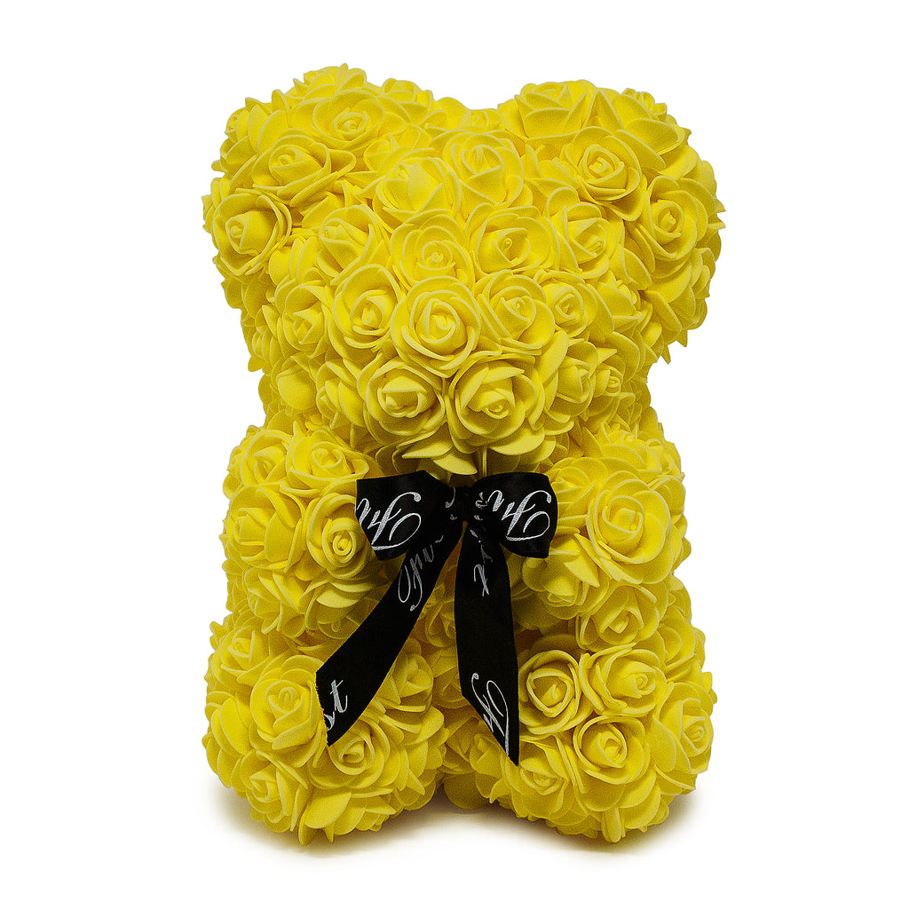 Handmade Yellow Rose Teddy Bear -1