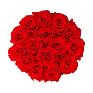 Red Roses & Big White Round Hat Box -3