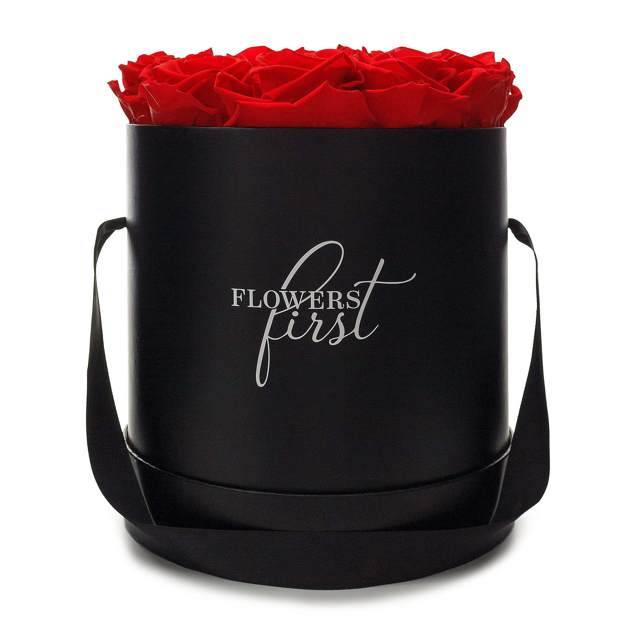 Red Roses & Big Black Round Hat Box -2