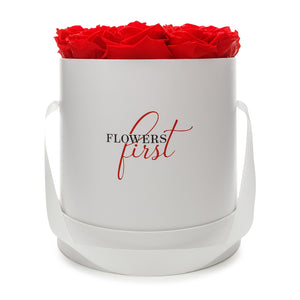 Red Roses & Big White Round Hat Box -2