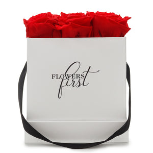 Red Roses & M Square White Box -2