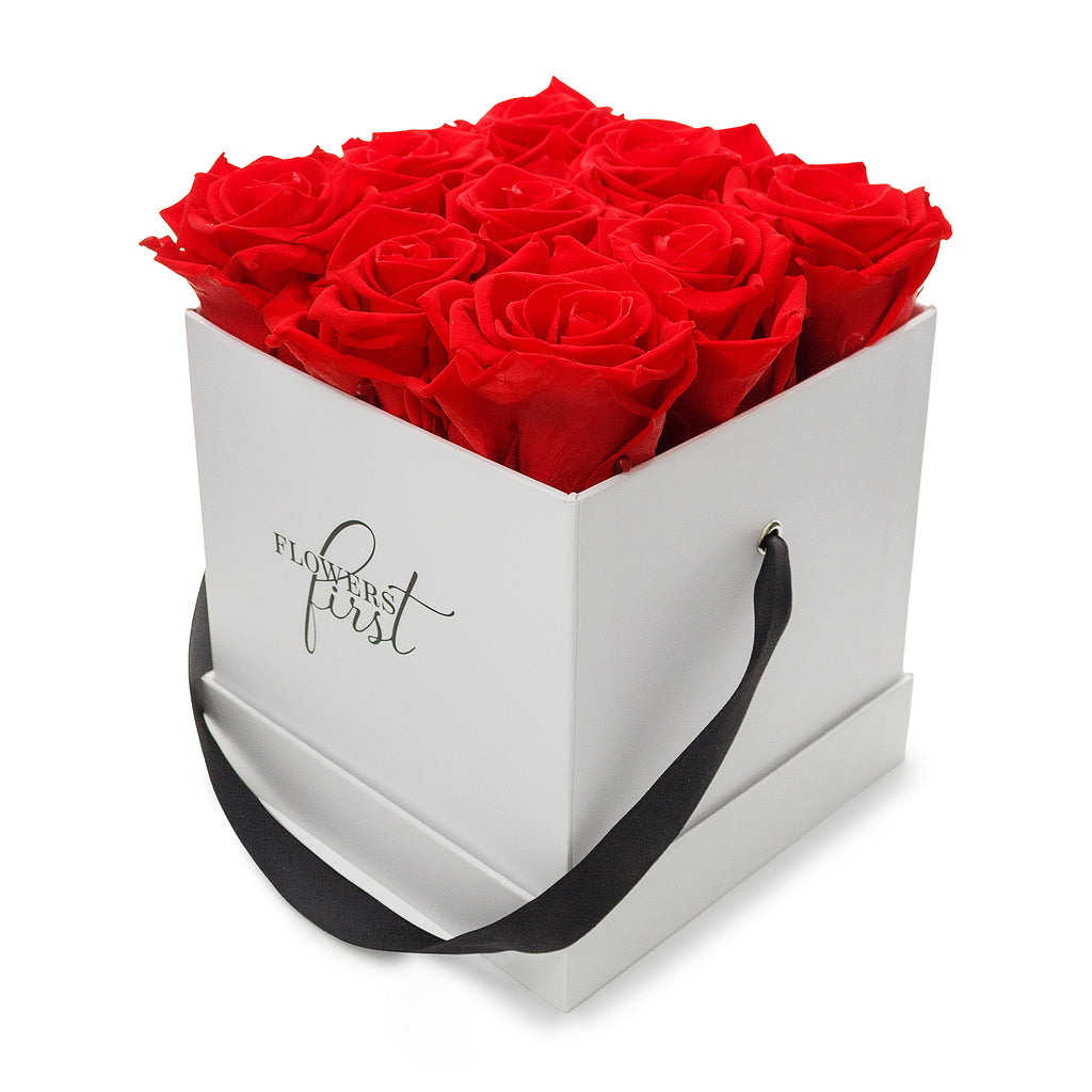 Red Roses & M Square White Box -1