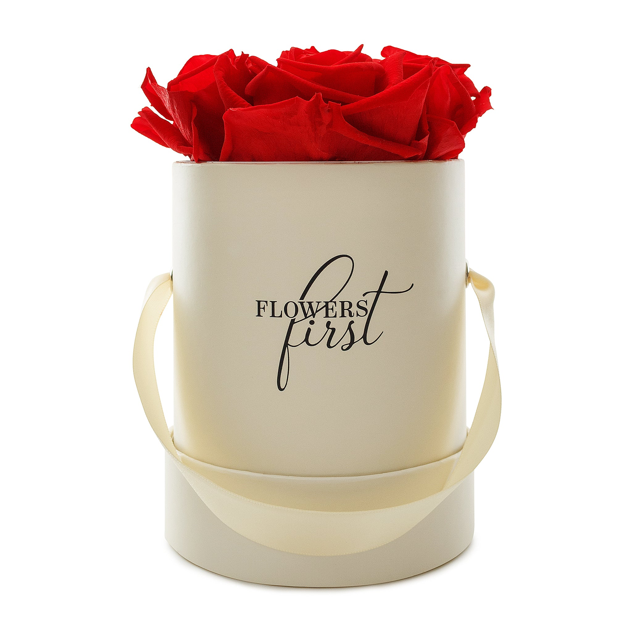 Roses & Beige Small Round Hat Box -2