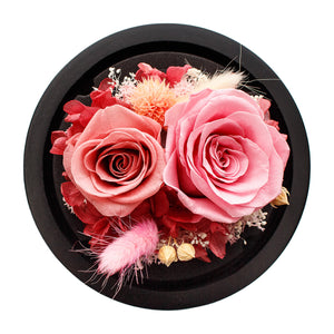 Pink Infinity Rose in Glass Dome -2