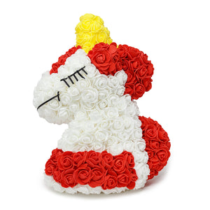 Red Luxury Handmade Rose Unicorn -2