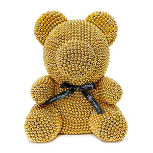 Large Gold Luxury Handmade Pearl Teddy Bear -1