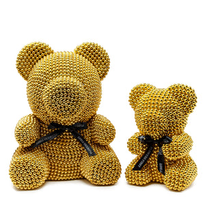 Large Gold Luxury Handmade Pearl Teddy Bear -2
