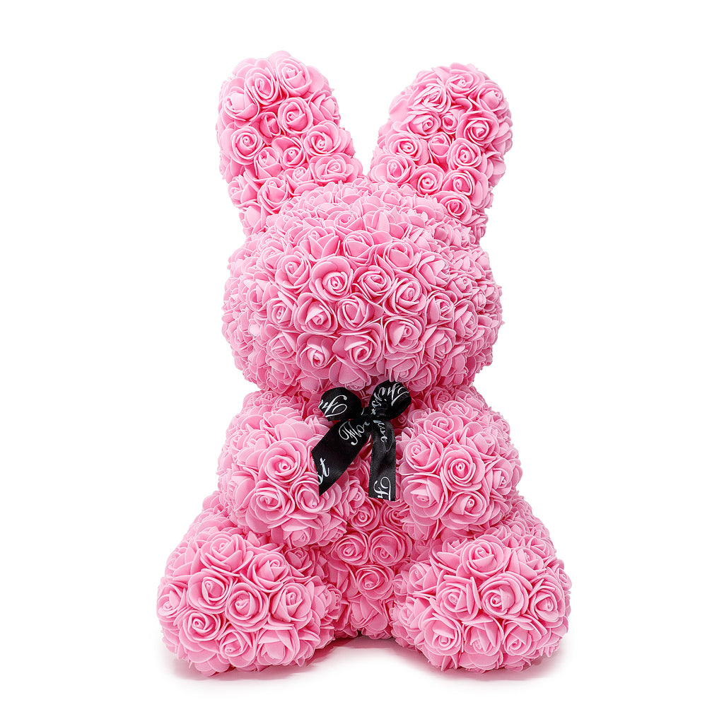 Pink Luxury Handmade Rose Bunny -1