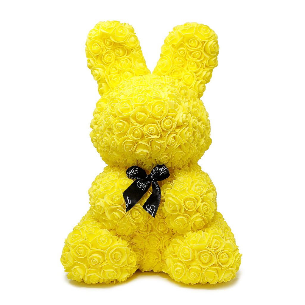Yellow Luxury Handmade Rose Bunny -1