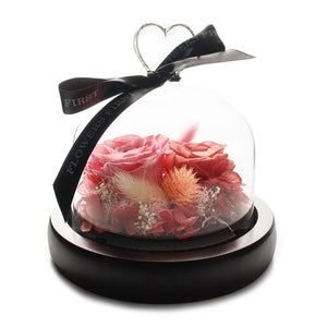 Pink Infinity Rose in Glass Dome -1